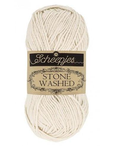 STONE WASHED, Scheepjes, Moon stone bela, 78 % bombaž, 22 % akril, 50 gr.