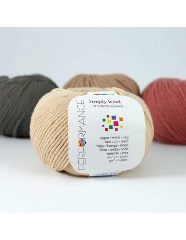 Simply Wool,  bež, kožna, 50 gr., 100 % merino superwach