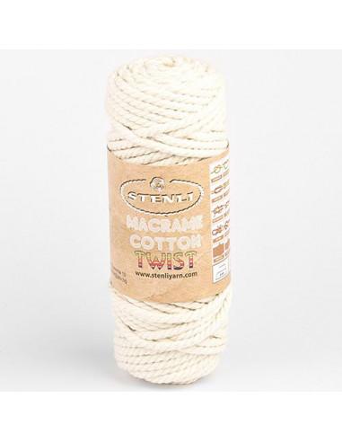 Macrame cotton Twist 6 mm, 250 gr./38 m, recikliran bombaž
