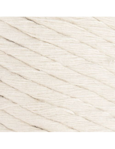 Macrame cotton Cord, 5 mm, bež,  250 gr./50 m