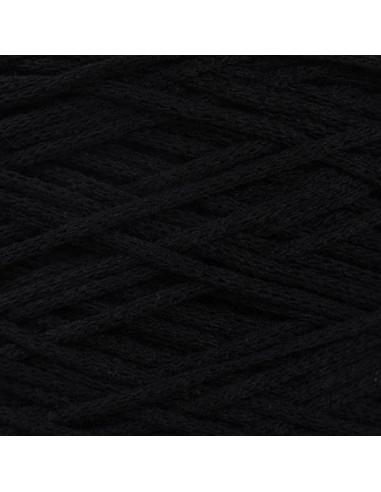 MACRAME COTTON 4 mm, vrvica, 200 gr., 83 m, črna