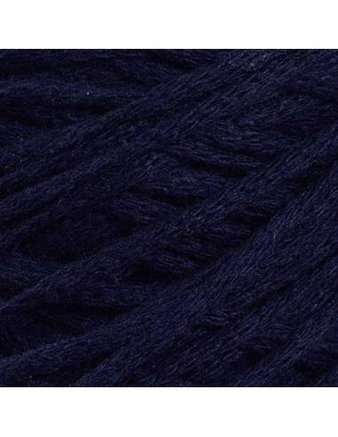 MACRAME COTTON 4 mm, vrvica, 200 gr., 83 m, temno modra