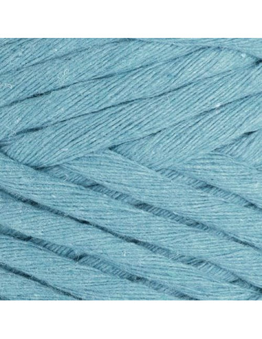 Macrame cotton Cord, 5 mm,  250 gr./50 m, sprano modra