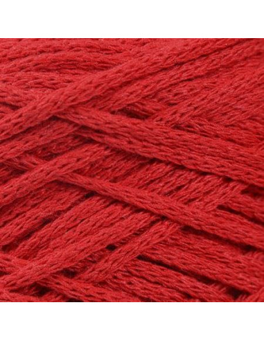 MACRAME COTTON 4 mm, vrvica, 200 gr., 83 m, rdeča
