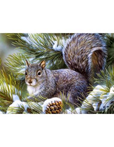 Mozaik slika, 27 X 38 cm, Veverica